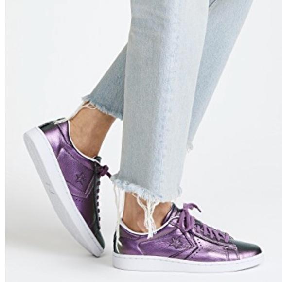 Converse Shoes | Nwt Converse Pro Leather Lp Ox Violet Fantory W ...